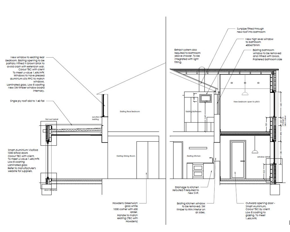 Maidstone home section drawings